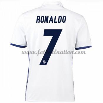 La Liga Fotballdrakter Real Madrid 2016-17 Ronaldo 7 Hjemme Draktsett