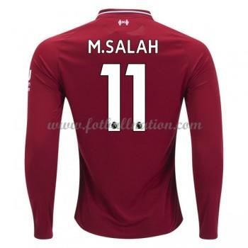 Premier League Fotballdrakter Liverpool 2018-19 Mohamed Salah 11 Hjemme Draktsett Langermet