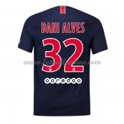 Ligue 1 Fotballdrakter Paris Saint Germain Psg 2018-19 Dani Alves 32 Hjemme Draktsett..