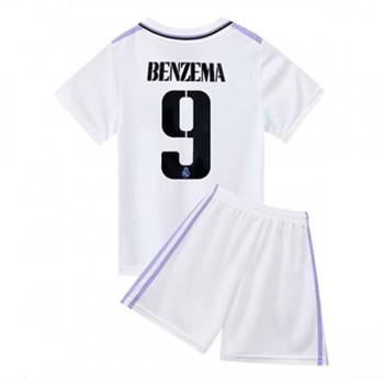 Real Madrid Barn Fotballdrakter 2018-19 Karim Benzema 9 Hjemmedrakt