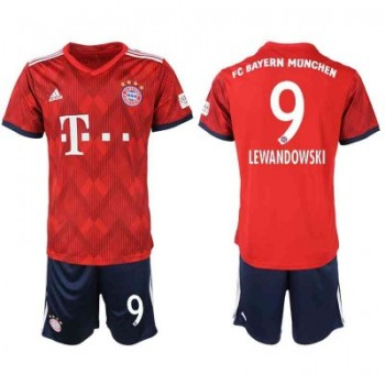 Bayern München Barn Fotballdrakter 2018-19 Robert Lewandowski 9 Hjemmedrakt