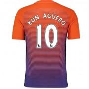 86c72cf3 Premier League Fotballdrakter Manchester City 2016-17 Kun Aguero 10 Tredje  Draktsett.